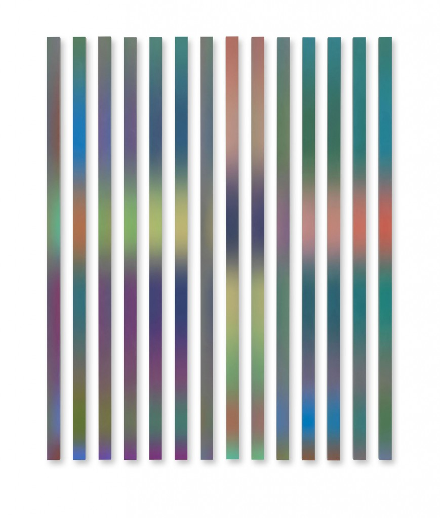 Dennis Loesch, Gradient No 17 (Bewohner), 2015, inkjet prints on aluminum, photo: Jens Ziehe © the artist courtesy Dittrich & Schlechtriem, Berlin.