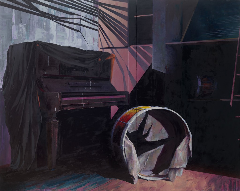 Katrin Heichel, Musikzimmer, 2016, oil and egg tempera on canvas, 240 x 300 cm, photo: Uwe Walter, Berlin/Leipzig, courtesy the artist © G2 Kunsthalle, Leipzig & VG Bild Kunst, Bonn 2016