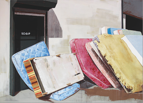 Katrin Heichel, Lager (Metropolitan Ave. 1067), 2011, oil and egg tempera on canvas, 210 x 290 cm, private collection Prien am Chiemsee, photo: Galerie Frank Schlag, Essen, courtesy the artist © VG Bild Kunst, Bonn 2016