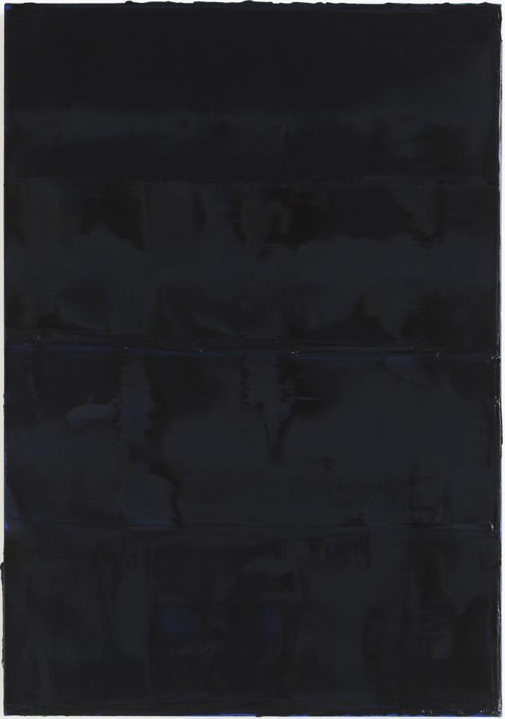 Peter Krauskopf, SCHWARZES BILD Grünstein, B 161016, 2016, oil on linen, 140 x 100 cm,  © Peter Krauskopf / VG Bild-Kunst Bonn 2017 Courtesy the artist & Galerie Jochen Hempel, Berlin/Leipzig