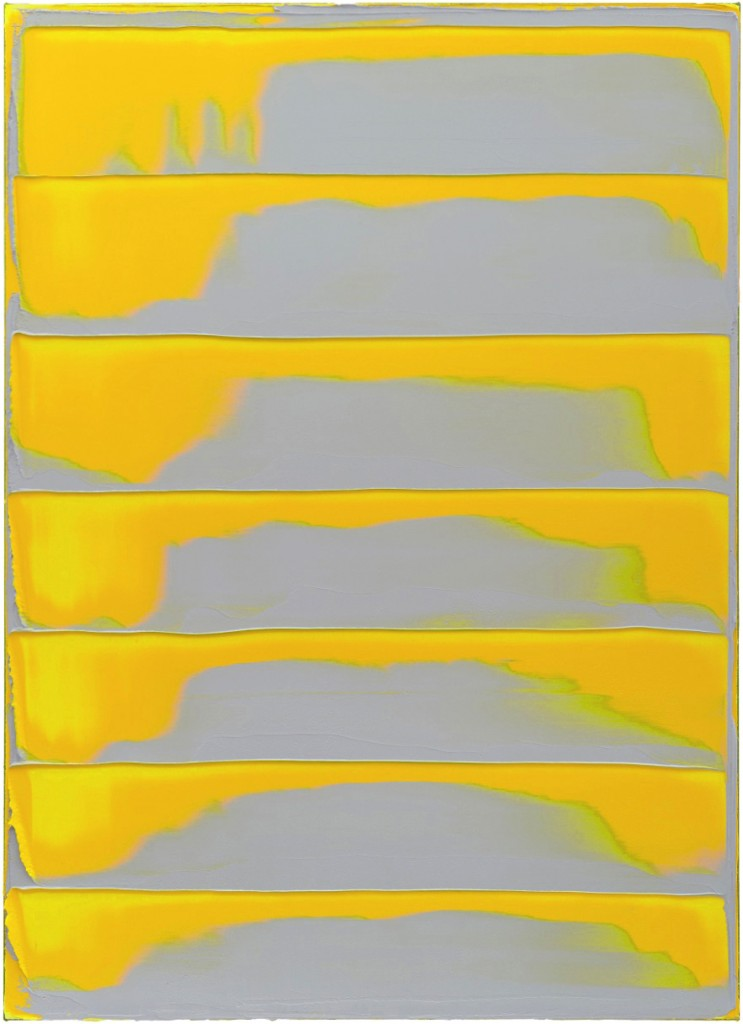 Peter Krauskopf, GELBES BILD Z, B 141015, 2015, oil on linen, 180 x 130 cm © Peter Krauskopf / VG Bild-Kunst Bonn 2017 Courtesy the artist & Galerie Jochen Hempel, Berlin/Leipzig