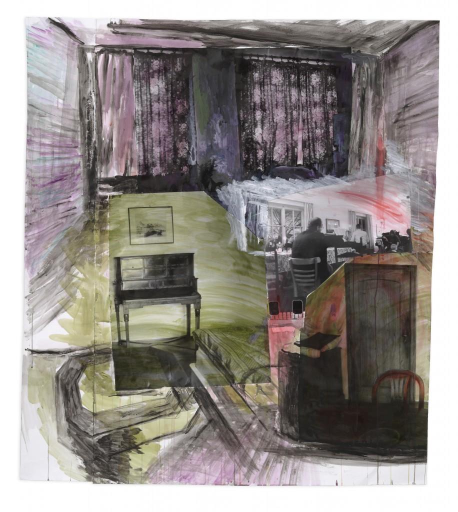 Amelie von Wulffen, untitled, 2007, photographs, acrylic, retouching ink on paper, 150 x 130 cm © Amelie von Wulffen, courtesy the artist & Galerie Barbara Weiss, Berlin