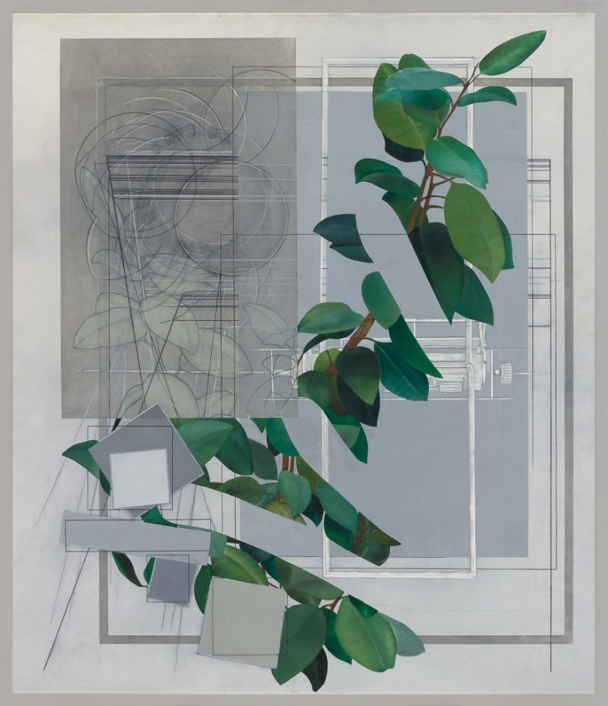 Oskar Rink, BUERO, 2018, oil, pencil on paper, 160 x 138 cm © Oskar Rink, photo: Gustav Franz