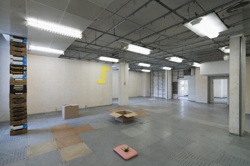 Installation view (Paul Nägele, Brenda Magdalena Wald), DADDY – Klasse Riedel, 21 June – 11 July 2018, G2 Projektraum (G2 Kunsthalle Leipzig), photo:  graysc.de