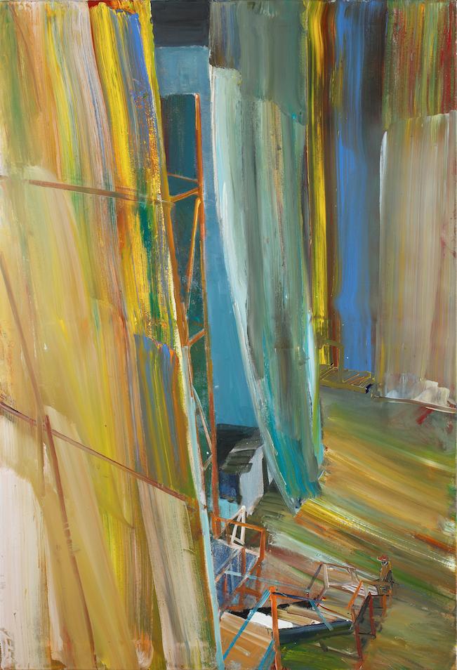 Jörg Ernert, Oper – Vorhang III, 2017, acrylic on canvas, 160 x 110 cm © the artist, photo: Christoph Sandig