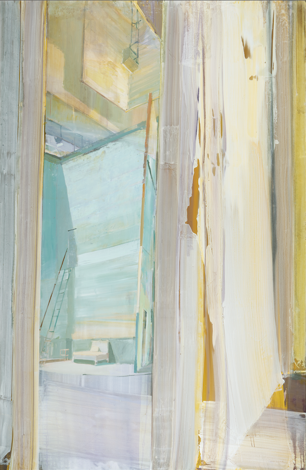 Jörg Ernert, Oper – Bett, 2018, acrylic on canvas, 300 x 195 cm © the artist, photo: Christoph Sandig