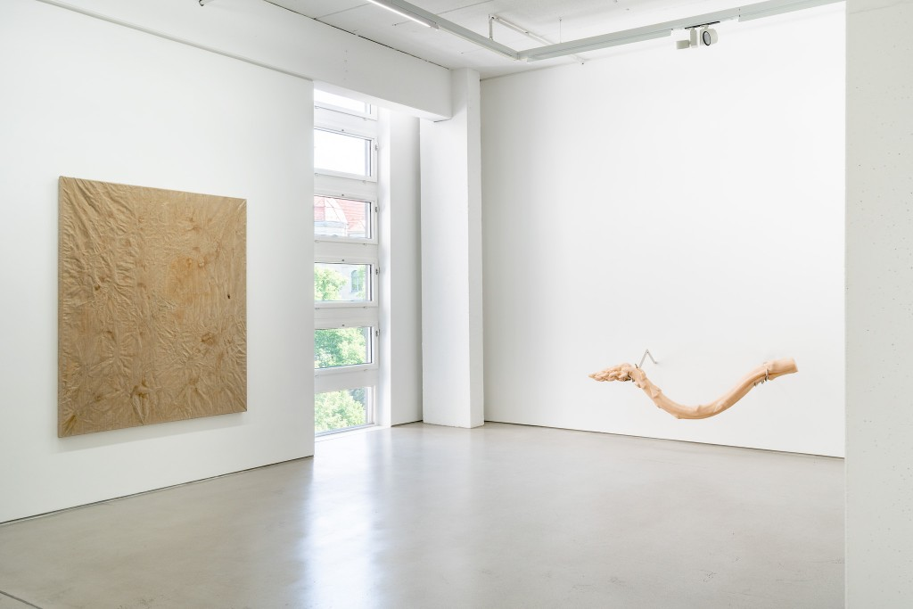 Installation view with art works by Paul Czerlitzki and Hannah Levy, exhibition: Wege zur Welt, 30 May – 15 September 2019, G2 Kunsthalle Leipzig © the artists & G2 Kunsthalle, photo: Dotgain.info