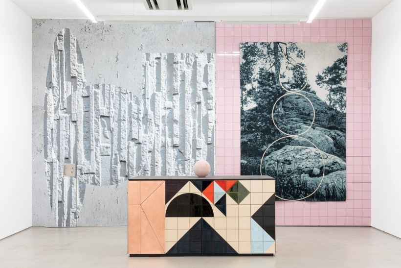 installation view with art works by Claudia Wieser, part of the exhibition Jochen Plogsties / Claudia Wieser - DOUBLE FEATURE, 11. Oktober 2019 - 12. Januar 2020, G2 Kunsthalle Leipzig, photo: Dotgain.info © the artists & G2 Kunsthalle