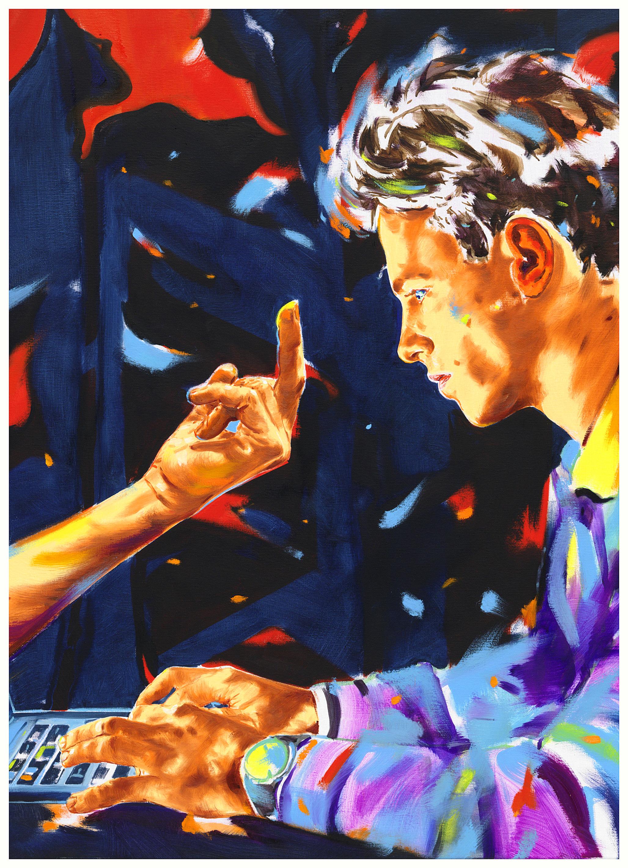 Ausschnitt aus: Norbert Bisky, Trollfarmer, 2021, Öl auf Leinwand, 100 x 130 cm, Foto: Bernd Borchardt, Courtesy: KÖNIG GALERIE © VG Bild-Kunst, Bonn 2021